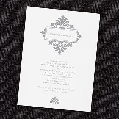 Framed 25th Anniversary - Invitation - Bright White