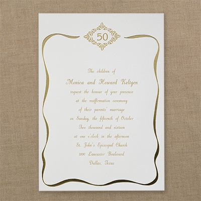 A Lifetime of Vows - Invitation