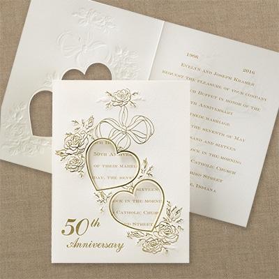 Fluttering Hearts - Invitation