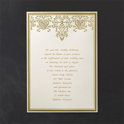 Golden Hearts - Invitation
