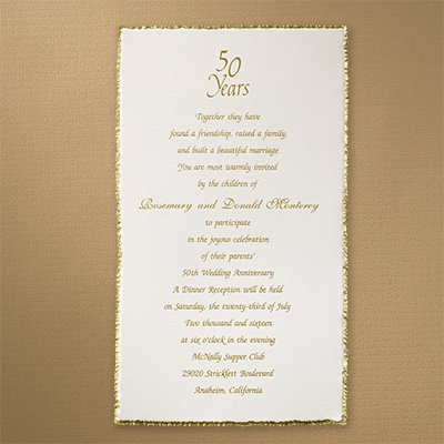 Borders of Love Gold - Vertical Invitation