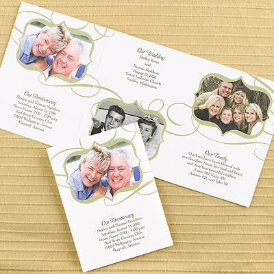 50th Anniversary Scalloped Photo Storyline - Invitation