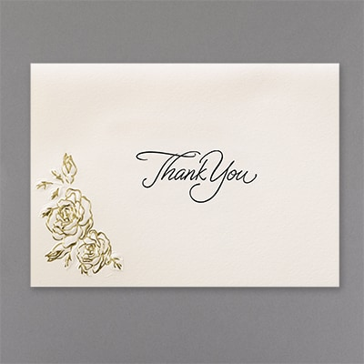 Fluttering Hearts - Thank You Card and Envelope