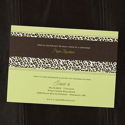Wild Celebration Shimmer Invitation - Margarita