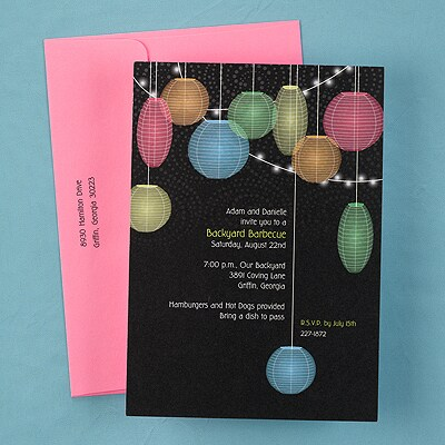 Patio Lanterns - Party Invitation - Shimmer
