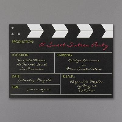 Movie Production - Birthday Invitation - Shimmer