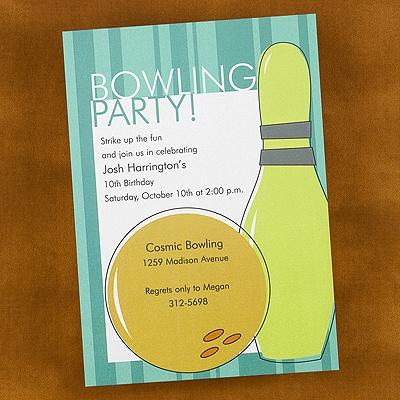 Bowling Fun - Party Invitation - Shimmer