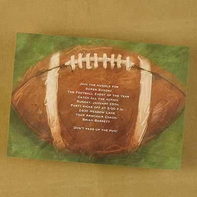 Football - Party Invitation - Bright White