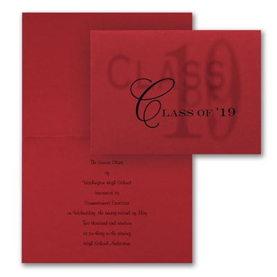 Sheer Class - Announcement - Red