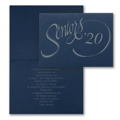 Senior Style - Announcement - Navy
