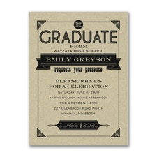 Banner Grad - Invitation - Kraft