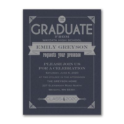 Banner Grad - Invitation - Navy