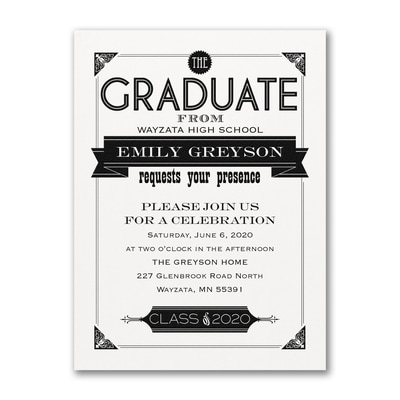 Banner Grad - Invitation - White