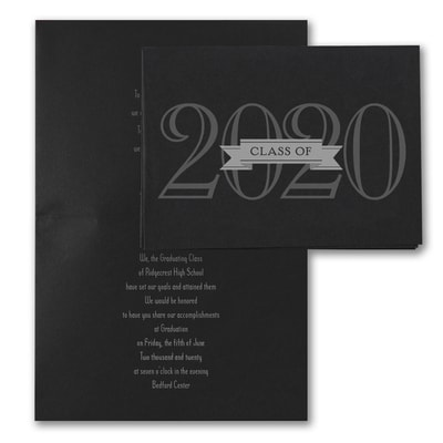 Grad in Color - Invitation - Black