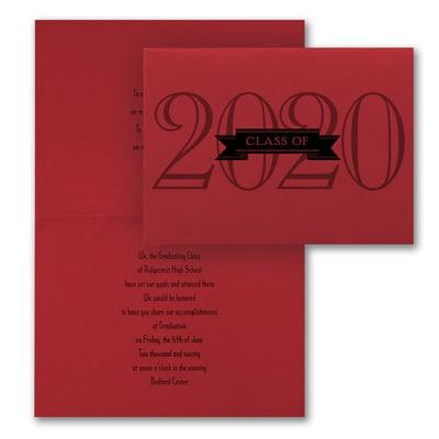 Grad in Color - Invitation - Red
