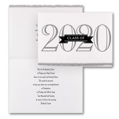 Grad in Color - Invitation - Silver Deckle