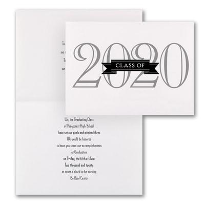 Grad in Color - Invitation - White