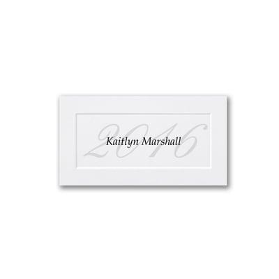 2016 Name Card - White