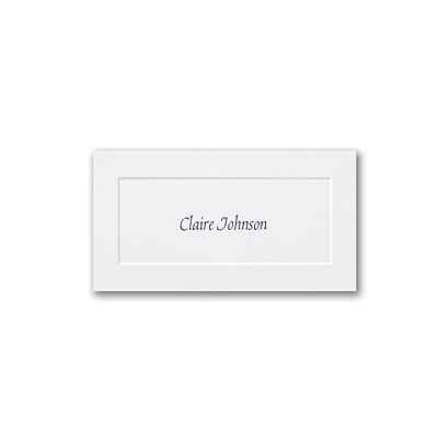 Embossed Panel Bright White Vellum Name Card