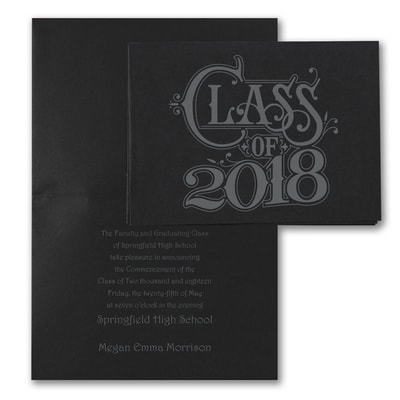 Grad Shine - Announcement - Black