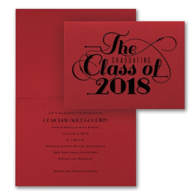 Classic Calligraphy - Invitation - Red