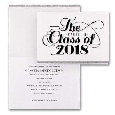Classic Calligraphy - Invitation - Silver Deckle