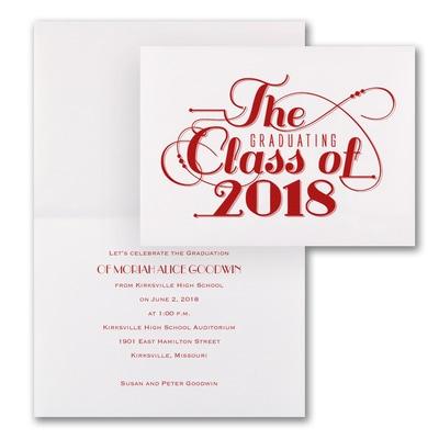 Classic Calligraphy - Invitation - White