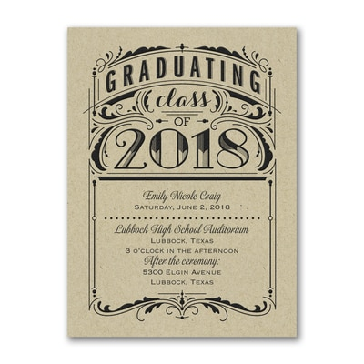 Poster Grad - Invitation - Kraft