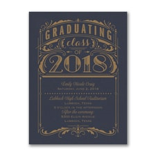 Poster Grad - Invitation - Navy