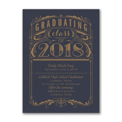 Poster Grad - Invitation - Navy