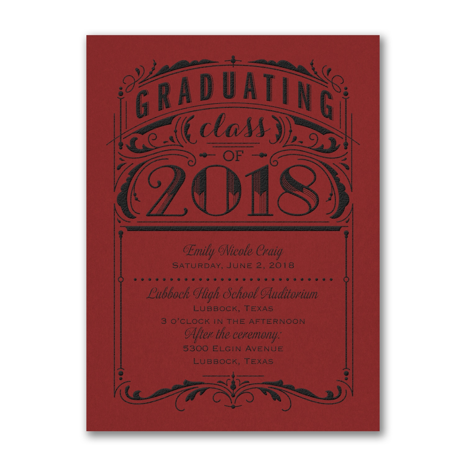 Poster Grad - Invitation - Red > Invitations | Forever Friends | Old ...