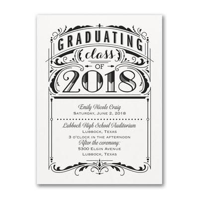 Poster Grad - Invitation - White