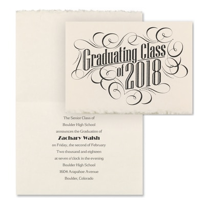 Graduating with Class - Announcement - Parchment Deckle