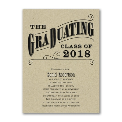 Grad Type - Announcement - Kraft