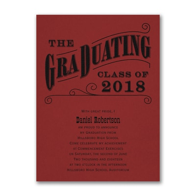 Grad Type - Announcement - Red