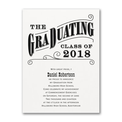 Grad Type - Announcement - White