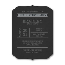 Grad Party - Invitation - Black