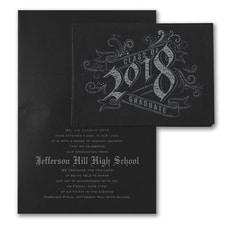 Vintage Graduate - Announcement - Black