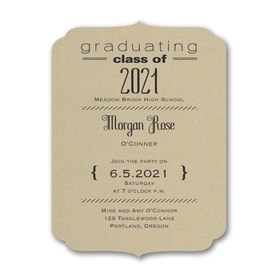 Class Crest - Invitation - Gold