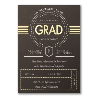 Grad Deco - Invitation