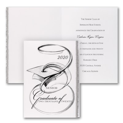 Artistic Grad - Announcement - Silver Deckle