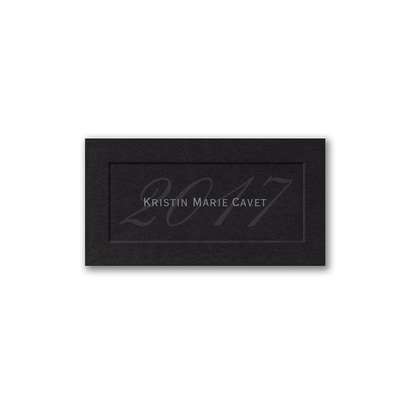 2017 Name Card - Black