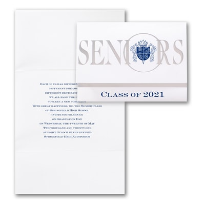 Crested Seniors - Invitation