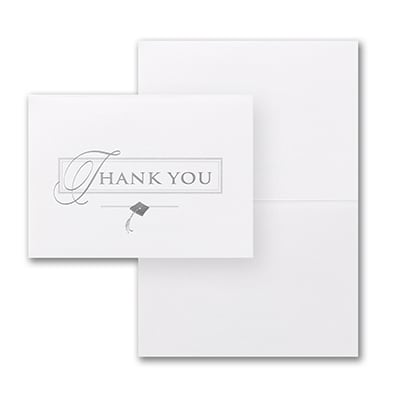 Deluxe Thank You - Silver - Blank Inside