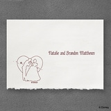 A Silhouette of Love - Note Card and Envelope