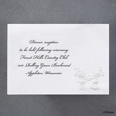 Forever in Love - Reception Card