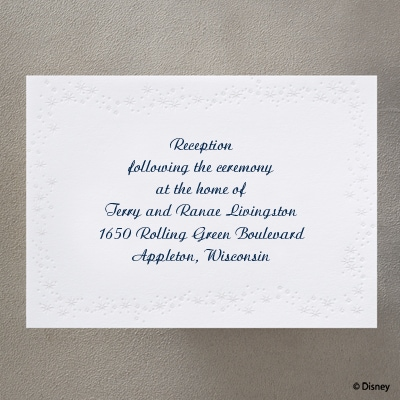 Carriage to Happily Ever After - Reception Card