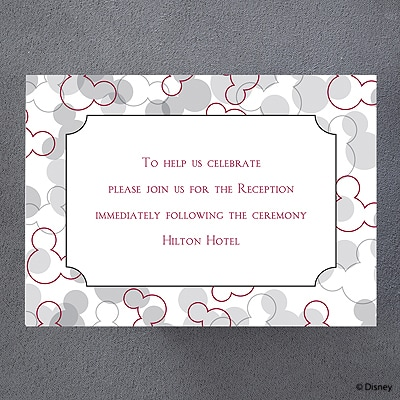 Mickey's Love - Reception Card
