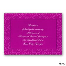 Fairy-Tale Four - Reception Card
