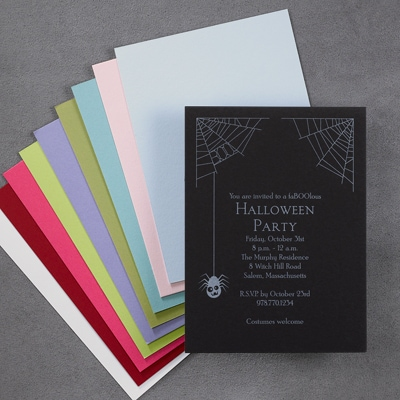 Spooky Spider Halloween - Invitation
